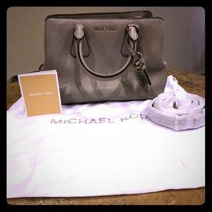 Beautiful gray soft leather Michael Kors Handbag!