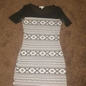 Black and grey aztec dress