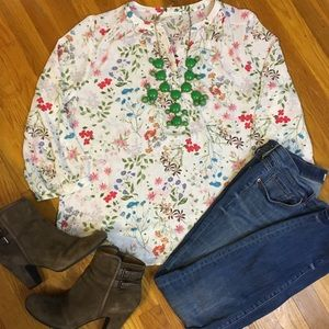 Anthropologie Floral Top