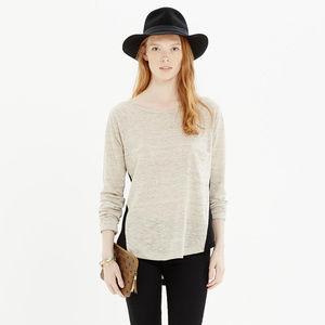 Madewell Long Sleeve Linen Curveball Tee Top