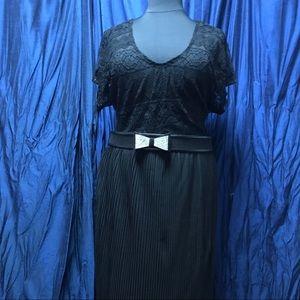 H&M pleated sheer skirt plus