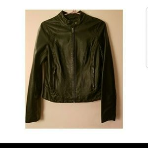 Light weight faux leather jacket