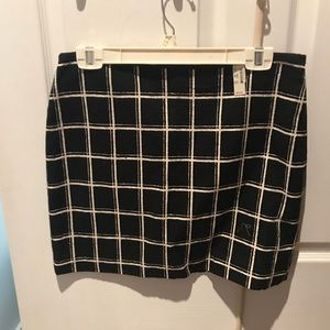 Madewell Black and White plaid skirt
