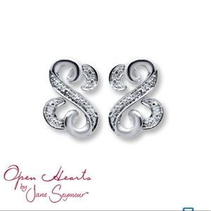 Kay Jewelers open hearts earrings