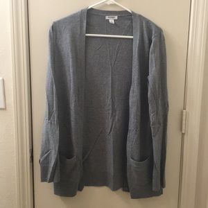 Gray button down cardigan