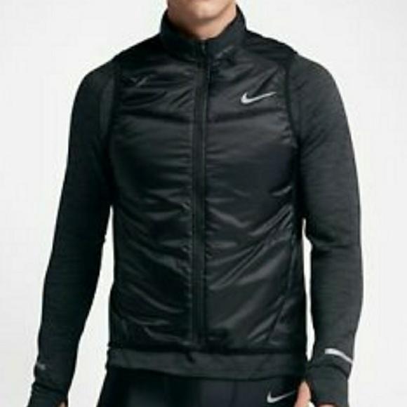 9b34e40d08ef Nike Polyfill Running Vest Black Reflective Silver