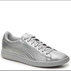Puma silver metallic sneakers