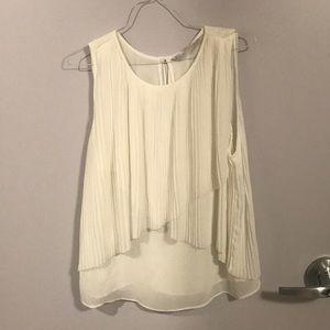 White small Zara blouse; never worn