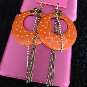 BETSEY JOHNSON Rock-a-Billy ** Polk a Dot EARRINGS
