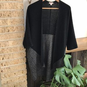 Gray and Black Kimono Cardigan
