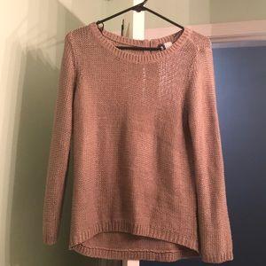 Hi-low knit tan sweater-H&M