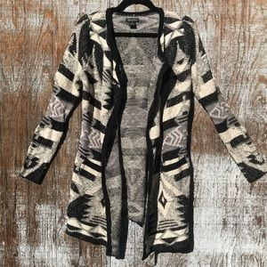Lucky Brand geometric tribal thick cardigan small
