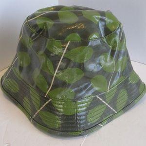 Orla Kiely Bucket Rain Hat - Stem Print - Green