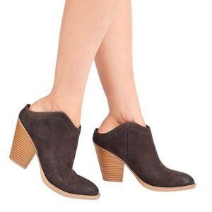 DV Nya Gray Booties Block Heel Mules