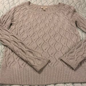 Loft Sparkly Silver Sweater Size Large