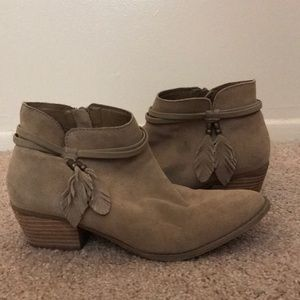 Tan AE Booties