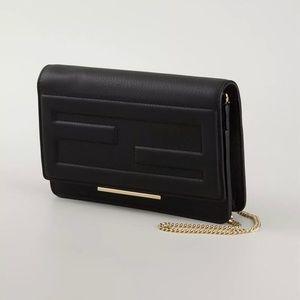 Fendi black tube wallet on chain