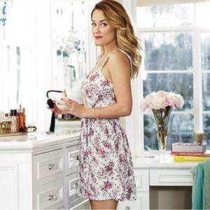 LC Lauren Conrad Floral Cutout Dress