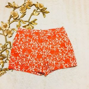 Ann Taylor Loft Orange Print Shorts Size 10
