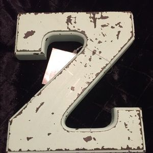 Accessories - SHABBY CHIC AND RUSTIC WOODEN LETTER Z