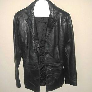 Jones New York Leather Jacket PS