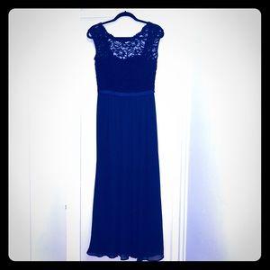 David's Bridal Bridesmaid Dress -Lapis Lace