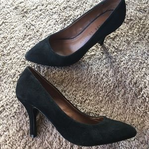 Chinese Laundry Black Suede Pointy Toe Pump