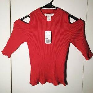 NWT Forever 21 shoulder-less ribbed shirt