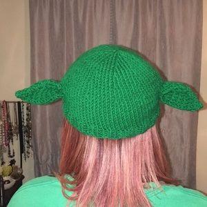 Hand made Yoda beanie