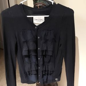 Abercrombie & Fitch Dark Blue Button Up Sweater