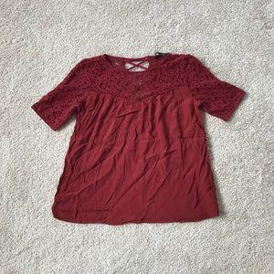 Zara basic lace top