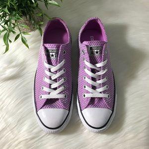 Purple Converse Snake Woven Ox Women's Sneaker