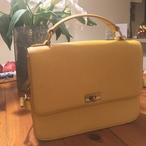 JCrew Edie Purse, Mustard Shoulder Bag, Like New!