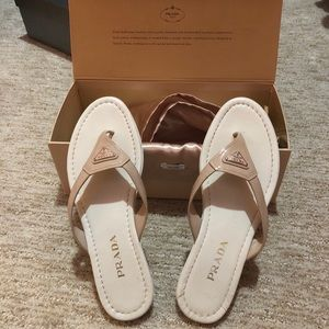 Authentic Prada Light Pink Nude Sandals Size 39