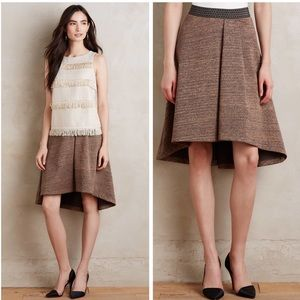 Anthropologie metallic Glistened Sweater skirt
