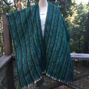 Jackets & Blazers - Shades of blue and green  striped poncho