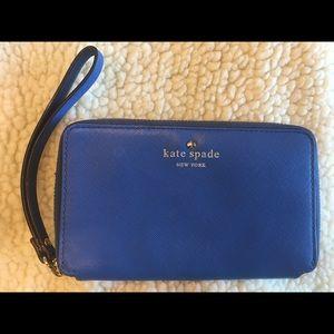 Kate Spade New York Cherry Lane Tech Blue Wristlet