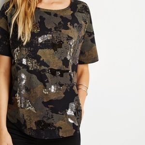 Forever 21 Camo Sequin Shirt