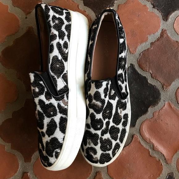 Topshop Tucker Leopard Print Slip On