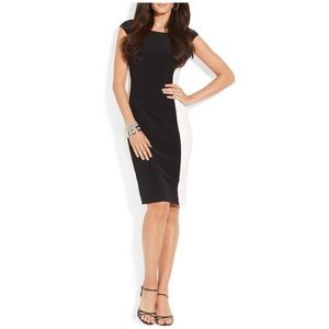 Lauren Ralph Dress Plus Size 16 Black White Fitted