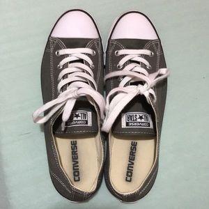 Converse grey women's shoes size 9