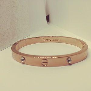 Jewelry - Brand NEW!!! Rose Gold Screw Bangle