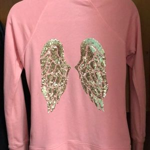 Victoria secret blinged angel wing zip up
