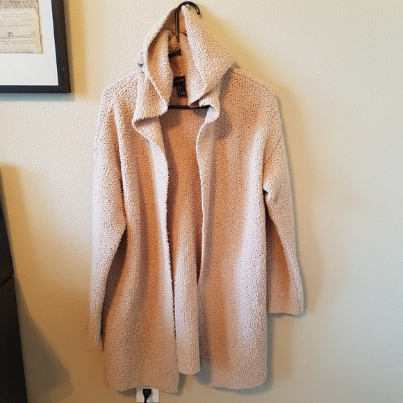 50% off Forever 21 Sweaters - Forever21 Beige Fuzzy Hooded ...