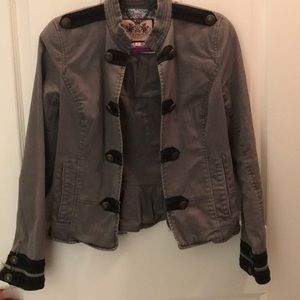 Juicy Couture grey military jacket