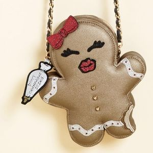 Betsey Johnson Gingerbread Cookie Bag