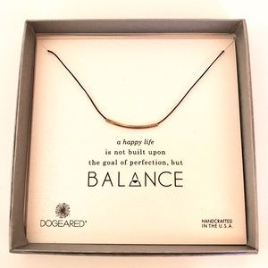 Dogeared Silver Balance necklace