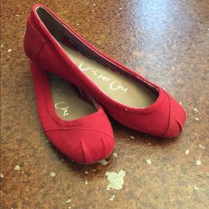 Red ballet Toms