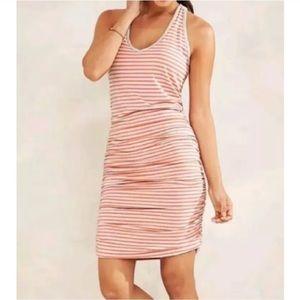 NWOT Athleta Ember Orange Striped Dress