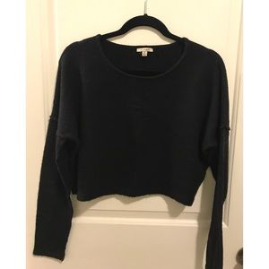 Urban Outfitters black cropped sweater